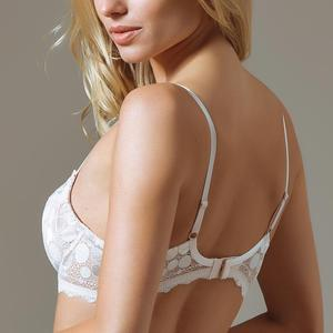 Semi Sheer Full Figure Lace Bra - Saikin-rettou