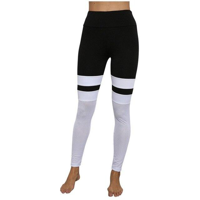 Womens Seamless Black And White Leggings - Saikin-rettou