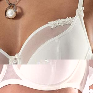 Semi Sheer Wired Bridal Bra - Saikin-rettou